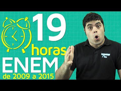 19 Horas de Resolução de Questões de Matemática do ENEM de 2009 até 2015