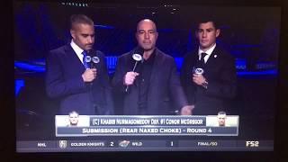 Joe Rogan on McGregor Khabib UFC 229 Crowd Fight