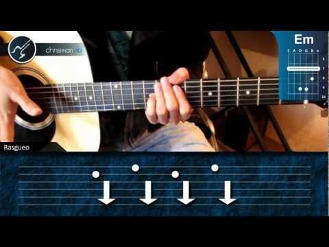 Como tocar El Pollito Pio en Guitarra (HD) Tutorial Acordes