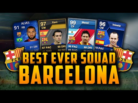 BEST EVER BARCELONA SQUAD! w/ 99 MESSI! + MORE!   FIFA GENERATIONS