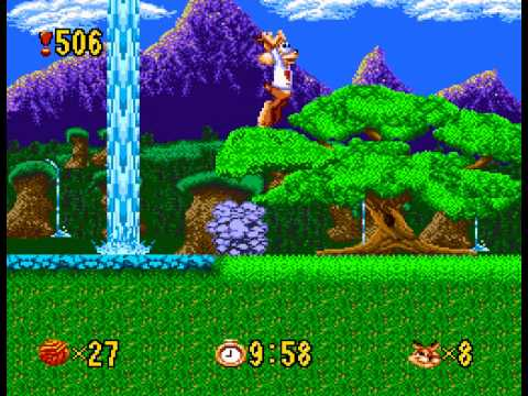 Bubsy - My deaths in Bubsy for sega genesis - User video