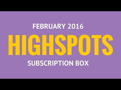 Highspots Subscription Box February 2016 - Unboxing of the Tier 2 Highspots Subscription Box