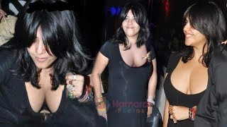 Ekta Kapoor Gorgeous Black Dress in Dazzling Look at a Celebration Party 2019 | For Fittrat Show