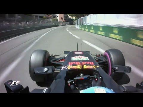 Daniel Ricciardo Pole Position Lap Monaco F1 2016