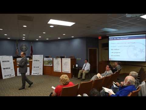 TDOT Commissioner John Schroer speaks at Spring Hill town hall meeting