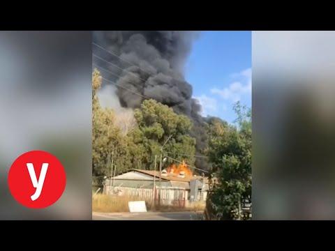 שריפה בבסיס תל השומר