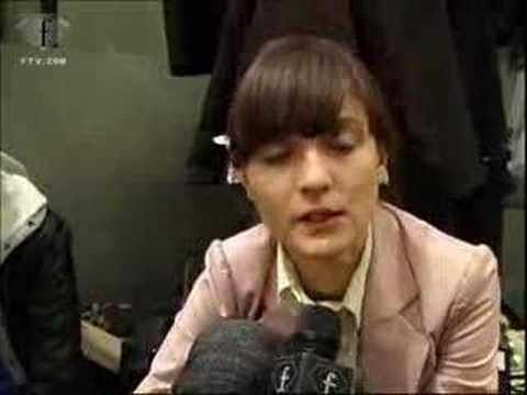 Ftv Model Talks: Irina Lazareanu Milan F w 07.08 video