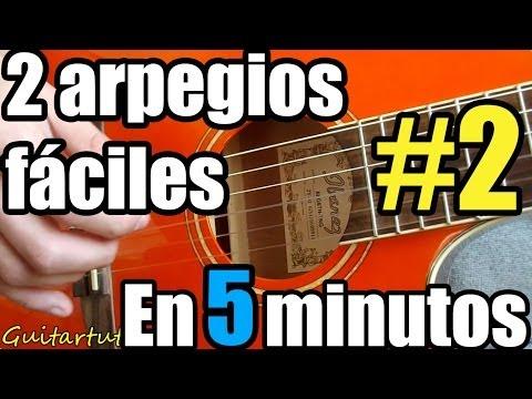 Como tocar Arpegios en guitarra acústica # 2, otras dos técnicas fáciles