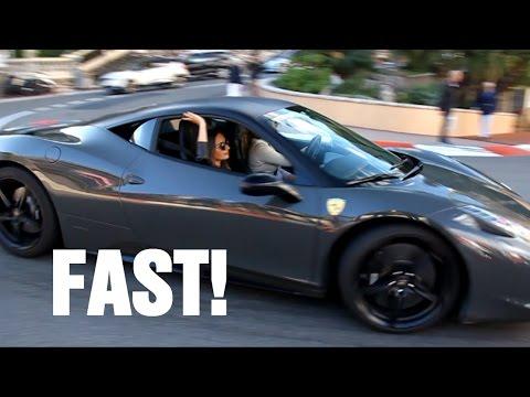 Girl driving Ferrari 458 Italia