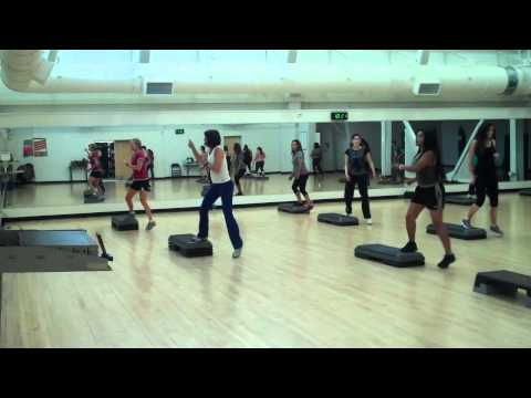 San Diego City College Step Aerobics Spring 2014 Awesome routine