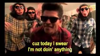 Bruno Mars The Lazy Song Karaoke Cantoyo