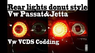 Rear lights donut style Vw Passat&Jetta like chevrolete corvete VCDS Vw codding