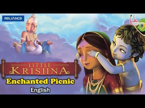 Little Krishna English Episode 4 enchanted Picnic Animation Series video