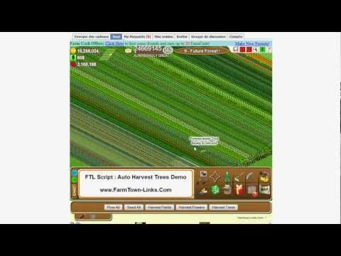 Farmtown Links Script Helper - Auto Harvest Trees Demo - www.Farmtown-Links.com