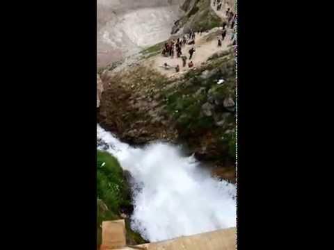 Beauty Waterfall sheshnag at KASHMIR