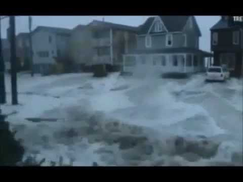 HURRICANE SANDY DESTROYING HOMES FLOODING (INSANE) *NEW*