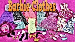 Barbie Doll Clothes New Barbie Fasion Pack  party Dresses  Barbie kıyafetleri