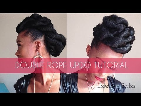 Hair Tutorial: EASY Double-Rope Updo with Kankekalon Jumbo Braid