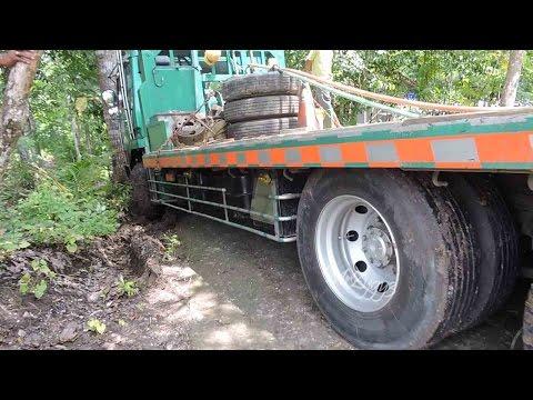 Fuso Self Loader Truck Stuck