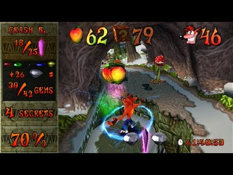 Crash Bandicoot 2 - 100% speedrun in 1:20:51 (single-segment) by MrBean35000vr (commentated)