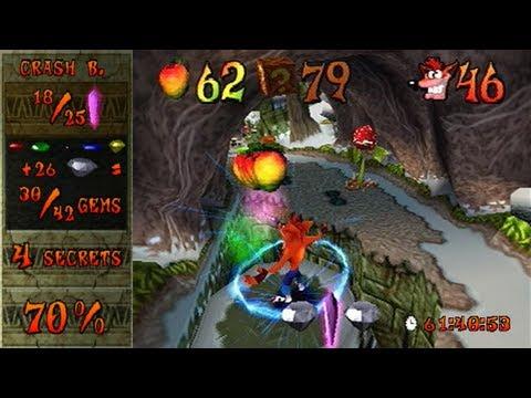 Crash Bandicoot 2 - 100% speedrun in 1:20:51 (single-segment) by MrBean35000vr (commentated)