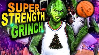 SUPER STRENGTH GRINCH Is TOO STRONG For NBA 2K20.. 7 FOOT POINT GUARD?!