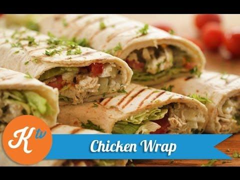 Resep Chicken Wrap  Healthy Chicken Wrap Recipe Video