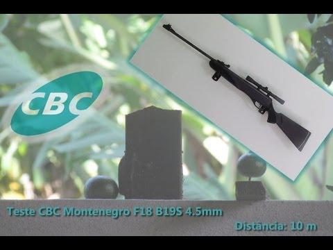 Teste Carabina CBC F18 B19S + Luneta Tasco 4x20