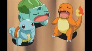 Bulbasaur, Charmander & Squirtle