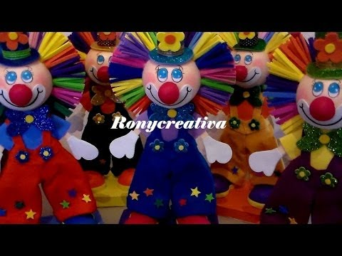 PAYASOS DE FOMI EN 3D / FOMI CLOWN