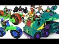 Rise of the Teenage Mutant Ninja Turtles transform Turtle Tank, Shell Hog motorcycle Go! #DuDuPopTOY