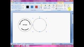 Creating Logo in MS Word Set 7 Q 1