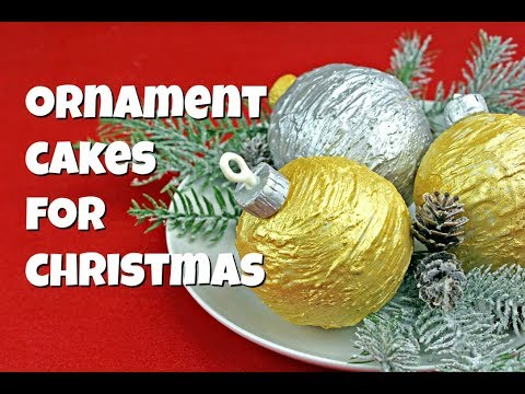 Christmas Ornament Cakes || Gretchen's Vegan Bakery thumbnail