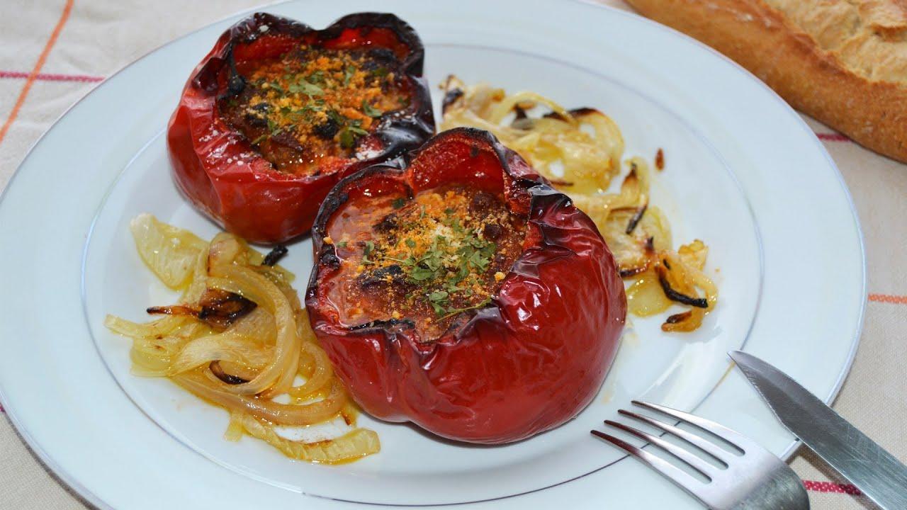 Pimientos rellenos de carne picada recetas de cocina youtube - Que cocinar con carne picada ...