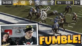 FUMBLE on the 1 Yard Line With under 30 Seconds Gives Him a Chance!! Madden 19 Punishment Packs