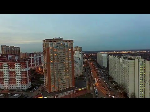 Вечерняя Москва, район Лианозово - Phantom 3 Advanced