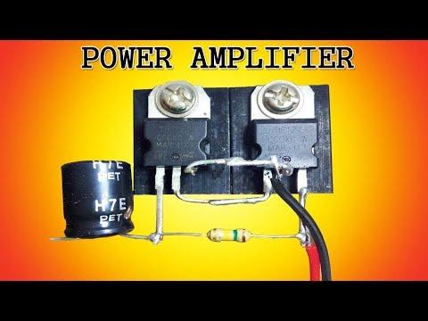 Mini power audio amplifier circuit using 2 transistors thumbnail