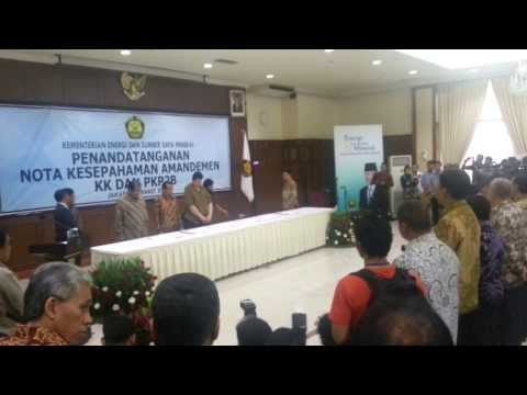 Signing Ceremony Mining Indonesia