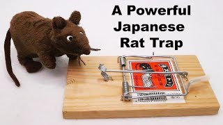 A Powerful Japanese Rodent Trap - Fox, Cat, Raccoon, Hawk, & Deer - Mousetrap Monday