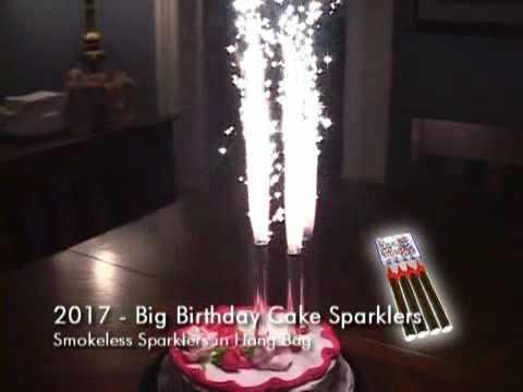 BIRTHDAY CAKE FOUNTAIN SPARKLERS