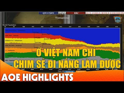 Trận đấu quá Kinh Điển của Chim Sẻ Đi Nắng | AoE Highlight. | AOE