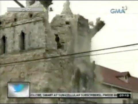 Earthquake Philippines Bohol 2013 Church Collapse (LIVE)