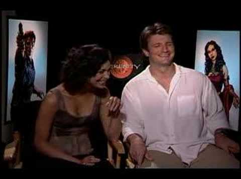 Nathan Fillion and Morena Baccarin interview for Serenity Video