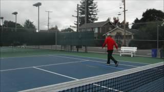 Set Up A Spec Tennis Court on A Tennis Court