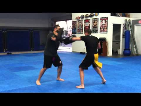 Johnny Murguia Thai Pad training @ All In MMA Image 1