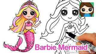 How to Draw Barbie Mermaid Chibi
