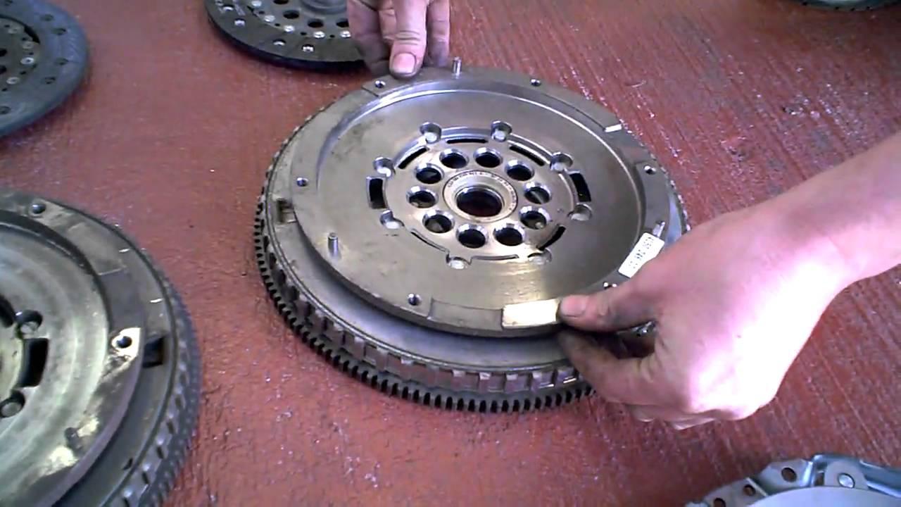Worn Dual Mass Flywheel - garageexeter.com - YouTube
