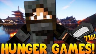 "Minecraft: ""EPIC ESCAPE, I AM A NINJA!"" Hunger Games w/Bajan Canadian! Game 716"
