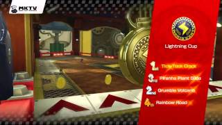 Mario Kart 8 Gameplay - Lightning Cup - Award Ceremony - 150cc