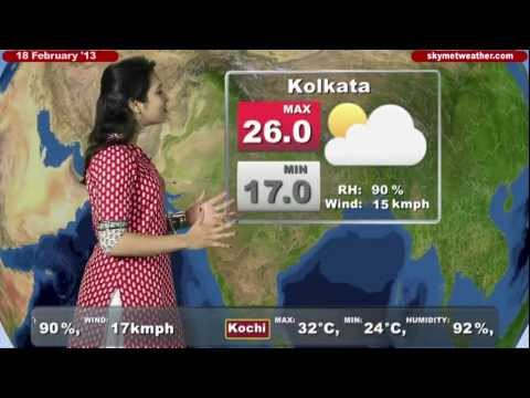 Skymet Weather Report - India February 18, 2013